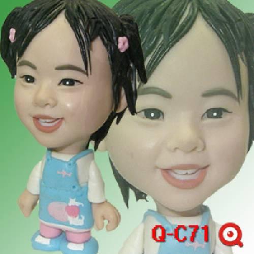 Q-C71-小捲妹妹公仔